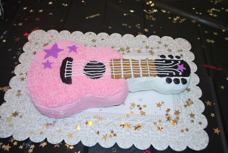 rock and roll cake for my little girl!