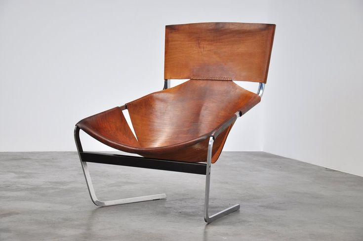 Pierre Paulin F444 Artifort chair in natural leather 1963