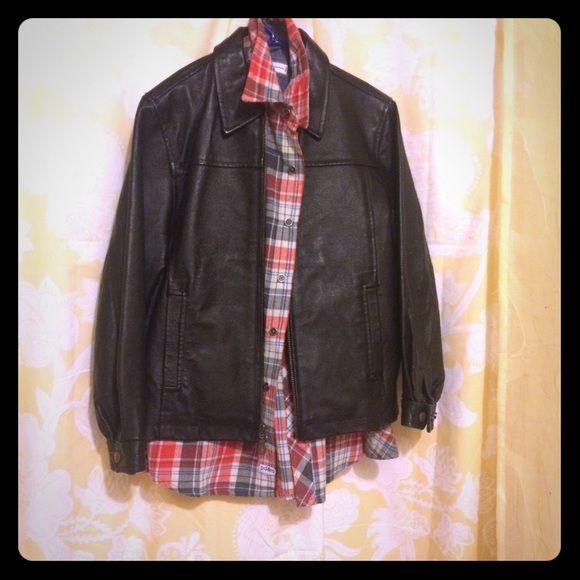 Boys leather jacket Boys leather jacket pretty heavy excellent condition Jackets & Coats