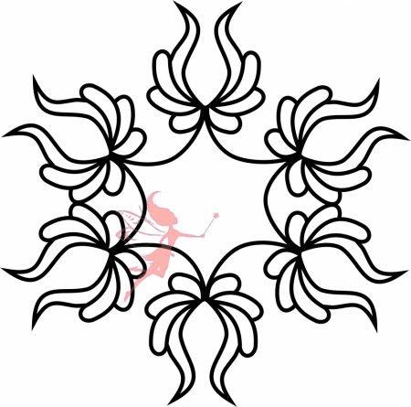 Quilt Flower Block Stencil - Fairy Quilt #quiltstencil #fairyquilt #quilting #quiltingideas #blockstencil