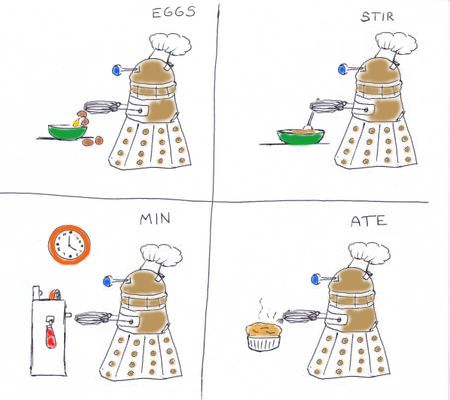 This is wonderful. Absolutely fabulous. xDGeek, Whovian, Nerd, Eggs Stir Min, Funny, Dalek, Doctors Who, Min Ate, Dr. Who