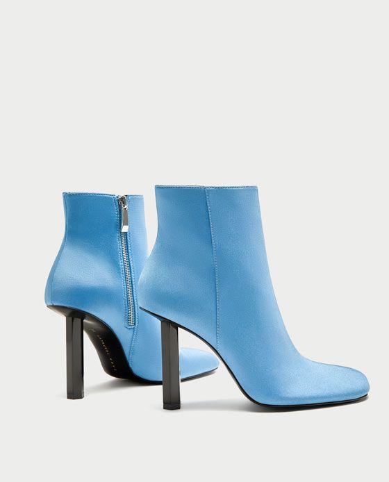 ZARA - WOMAN - SKY BLUE PIN HEEL ANKLE BOOTS