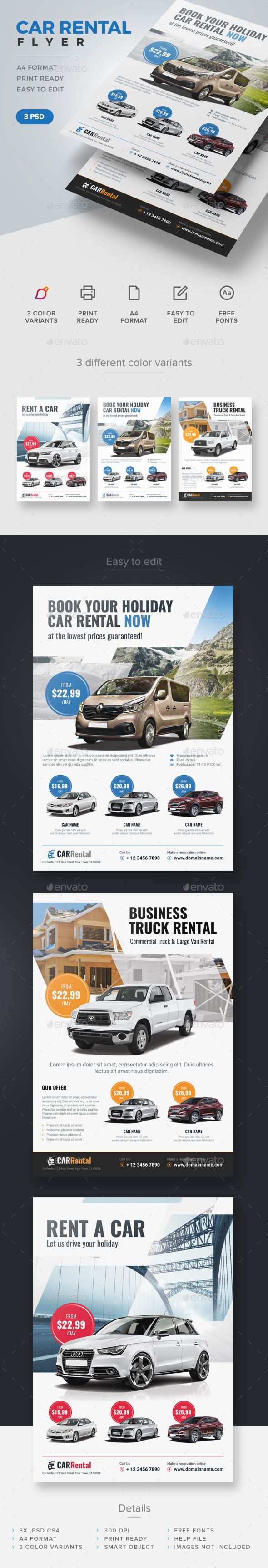 Buy car rental flyer by artmotion on graphicriver