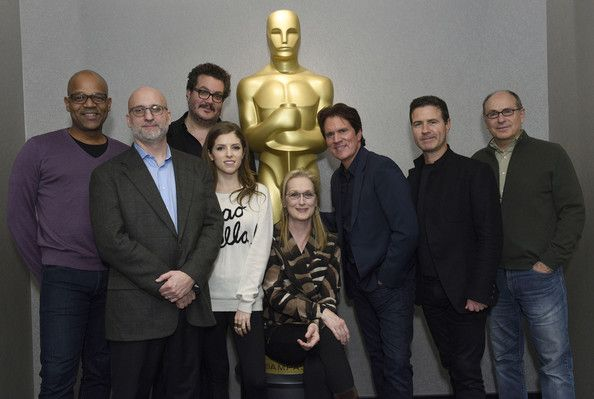 Patrick Harris, Wyatt Smith, Anna Kendrick, Meryl Streep, Rob Marshall, Dion Beebe, and James Lapine attend the The Academy Of Motion Picture Arts And Sciences Hosts An Official Academy Members Screening Of INTO THE WOODS at The Academy Theatre at Lighthouse International on December 9, 2014 in New York City.