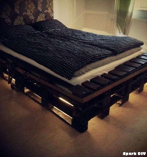 How to Make a DIY Pallet Bed Frame | Spark DIY - Inspiration for Every DIY Project