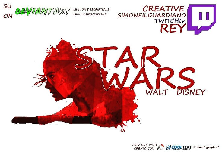 From a creative streaming twitchtv rey starwars  My channel  http://twitch.tv/simoneilguardiano/  Da una streaming twitchtv creative disegno dedicato a Rey Starwars . Il mio canale http://twitch.tv/simoneilguardiano/