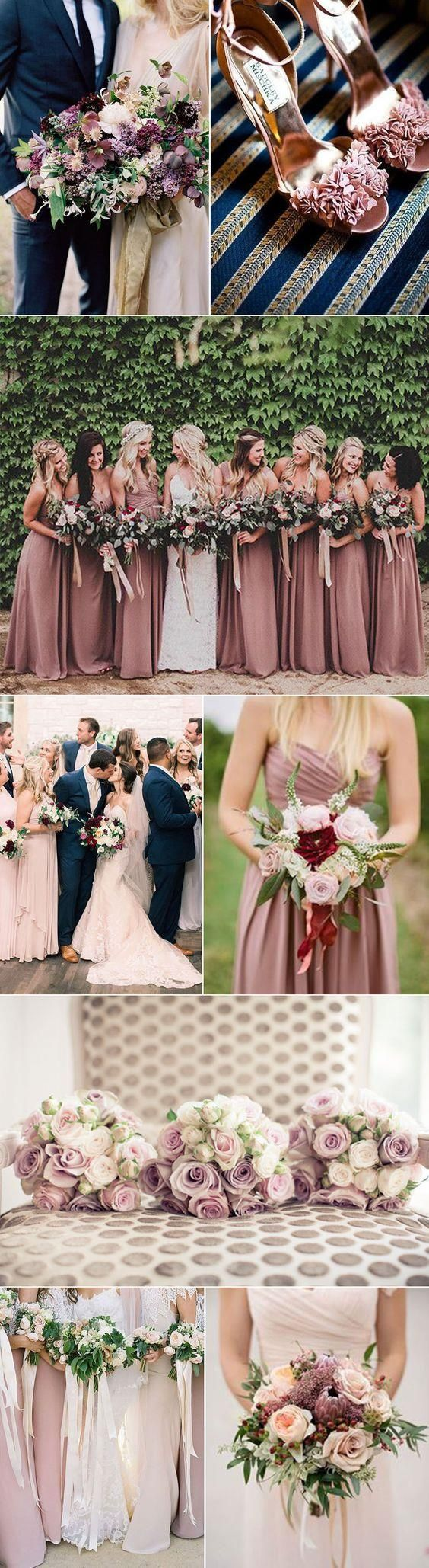 We love the look of mauve and navy together! This would be a great combo for spring, summer or fall! #weddingideawednesday #duboisfw