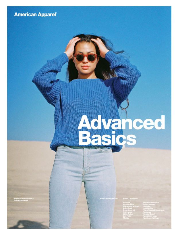 A recent American Apparel advertisement. Photo: American Apparel