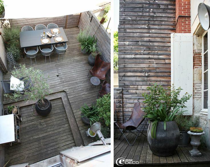 la terrasse de la d coratrice b atrice loncle o le bois et le zinc se conjuguent avec les. Black Bedroom Furniture Sets. Home Design Ideas