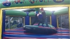 The Gladiator Duel From Castle Capers Jumping Castle Hire check out all the details at http://www.castlecapers.com.au