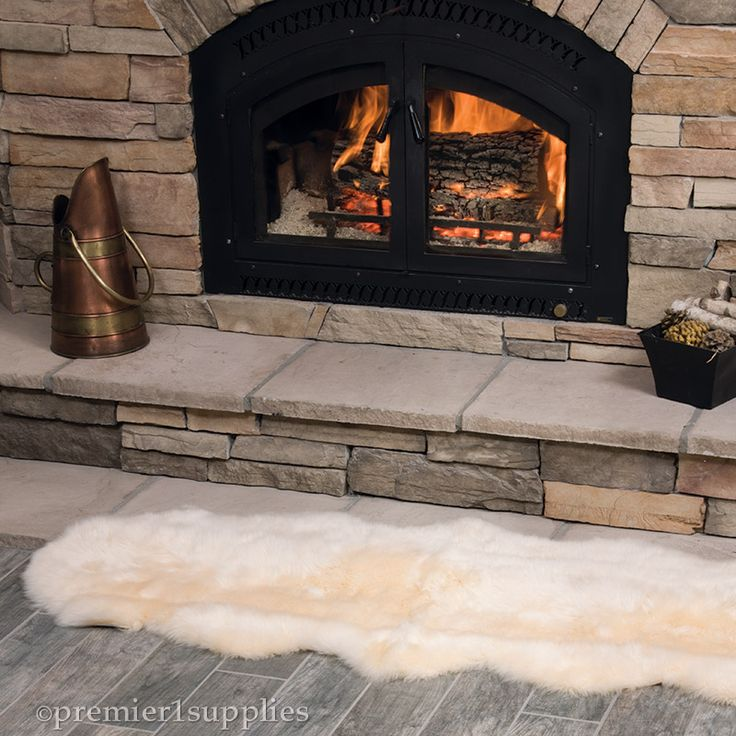 Double End-to-End Sheepskin Rug - Double lambskin rugs are stitched end to end, creating runner that is ideal for benches, hallways, or the foot of a master bed.