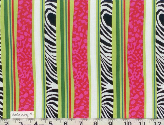 Hot Pink Lime Green And Black And White Zebra Stripes