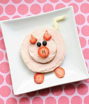 Cute Snack Idea: A Little Pink Piggy