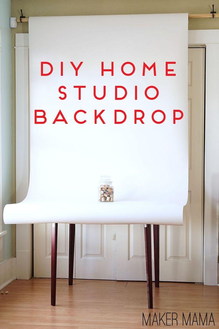 DIY Home Studio Backdrop, using hooks and a broom handle