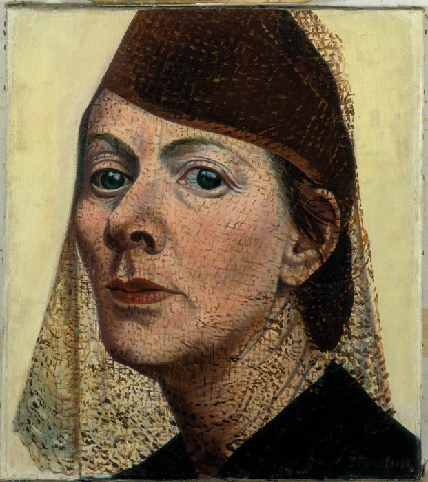 Charley Toorop, Self Portrait with Hat and Voile, 1938, oil on canvas, 40 x 36 cm, collection Stedelijk Museum Amsterdam. c/o Pictoright Amsterdam 2011.