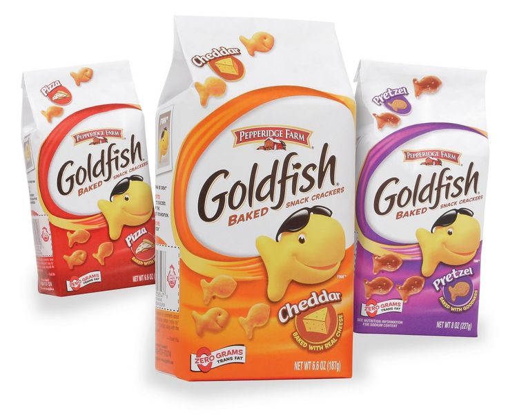 Goldfish are snack crackers manufactured by Pepperidge Farm, a division of the Campbell Soup Company. Description from pixgood.com. I searched for this on bing.com/images