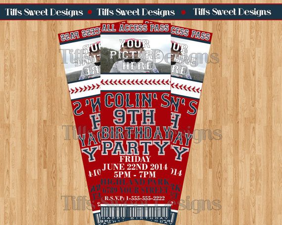 The 25+ best Baseball tickets ideas on Pinterest Baseball party - printable ticket invitations