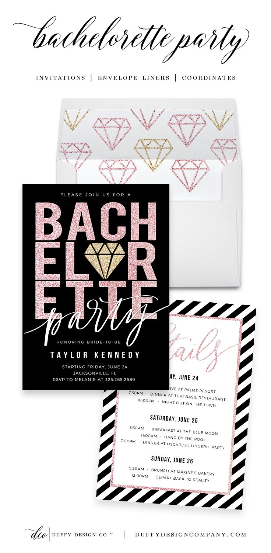 31 best Duffy Design Co Bachelorette Invitations images on Pinterest ...