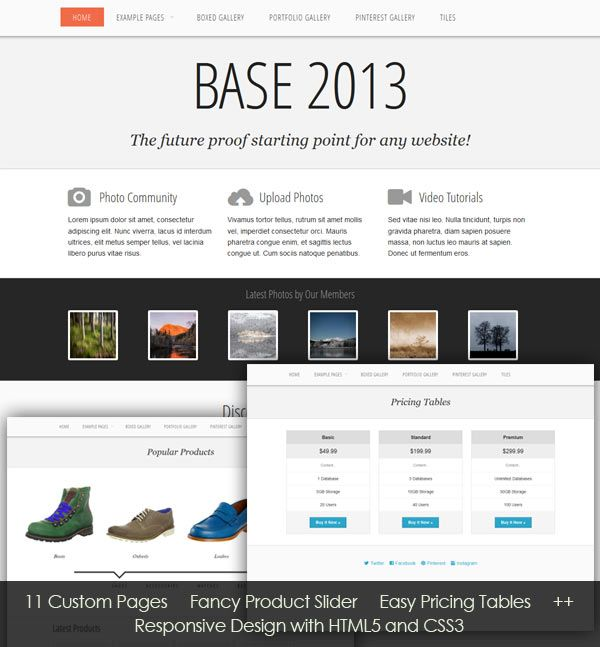 Free Css Template: Base 2013