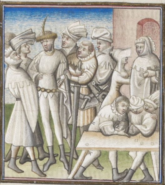 "The ""Conspiracy of Catilin"" and the ""Jugurthine War"" by Sallust c1420  folio 5r Ms. lat. 54 Bibliothèque de Genève"