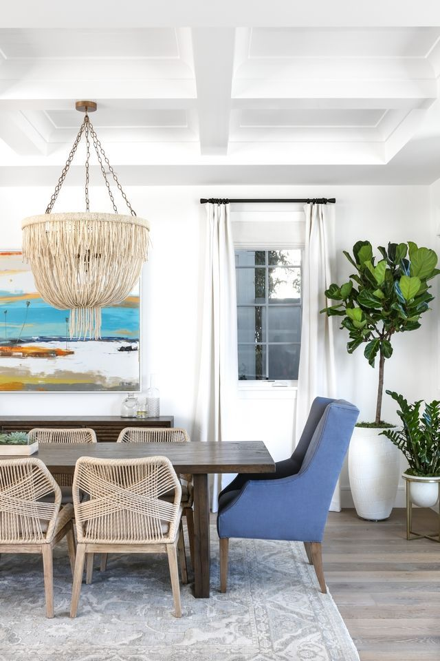 Host Dining Chairs Coastal Dining Room With Blue Wingback Host