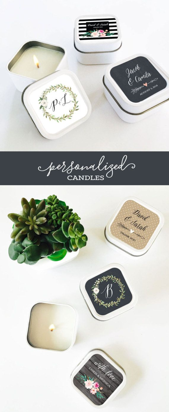 Candle Favors  Wedding Favor Candles  Personalized Candles