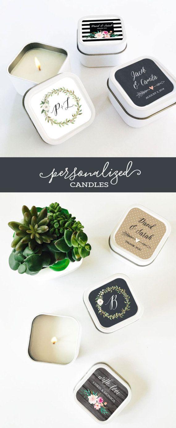 Wedding Favor Candles | Bridal Shower Candles  | Rustic Wedding Favors