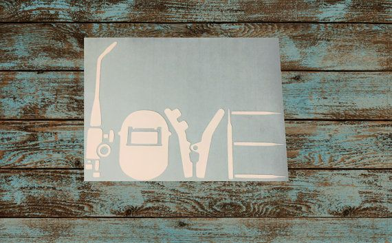 Welder/Welding Love Decal  Weld Sticker  Vinyl by MomsVinylworks