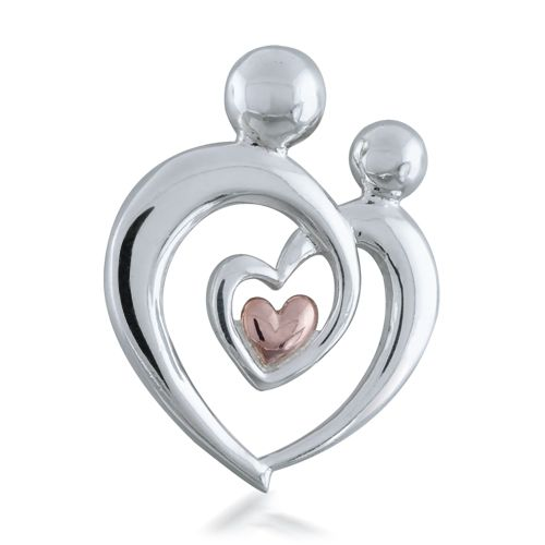 165 best jewelry images on pinterest rings fingers and jewelry rings sterling silver mother child heart pendant aloadofball Image collections