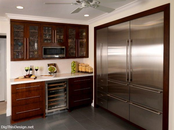 The open kitchen concept designing the refrigerator zone for Kitchen design zones