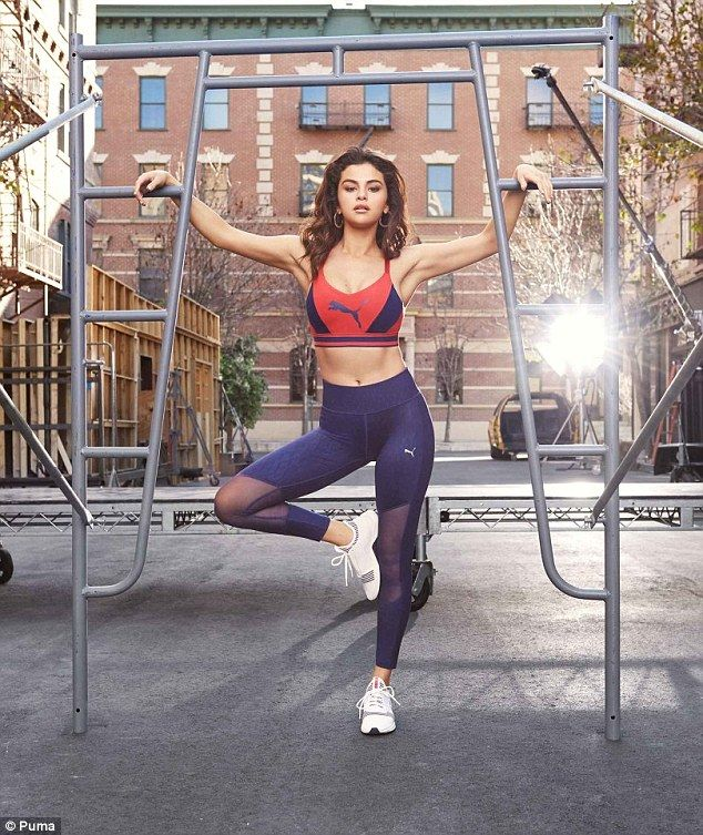 bac6d4b68c Work up a sweat in Puma leggings like Selena Gomez. Click  Visit  to buy  now.  selenagomez  puma  athleisure  DailyMail