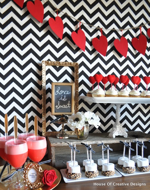 Valentine's Party Inspiration. Find everything you need at any Dollars and Cents store.