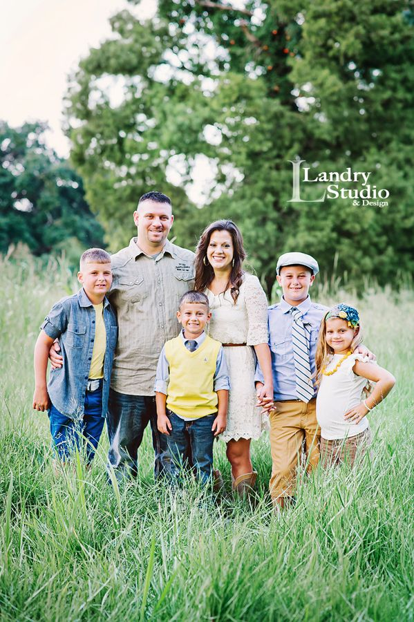 """For family or group photos, pick two main colors with neutrals. That way, everyone's outfit goes together without being too """"matchy-matchy""""."""