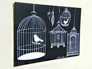 Manualidades y Artesanías | Pizarra con jaulas | Utilisima.com