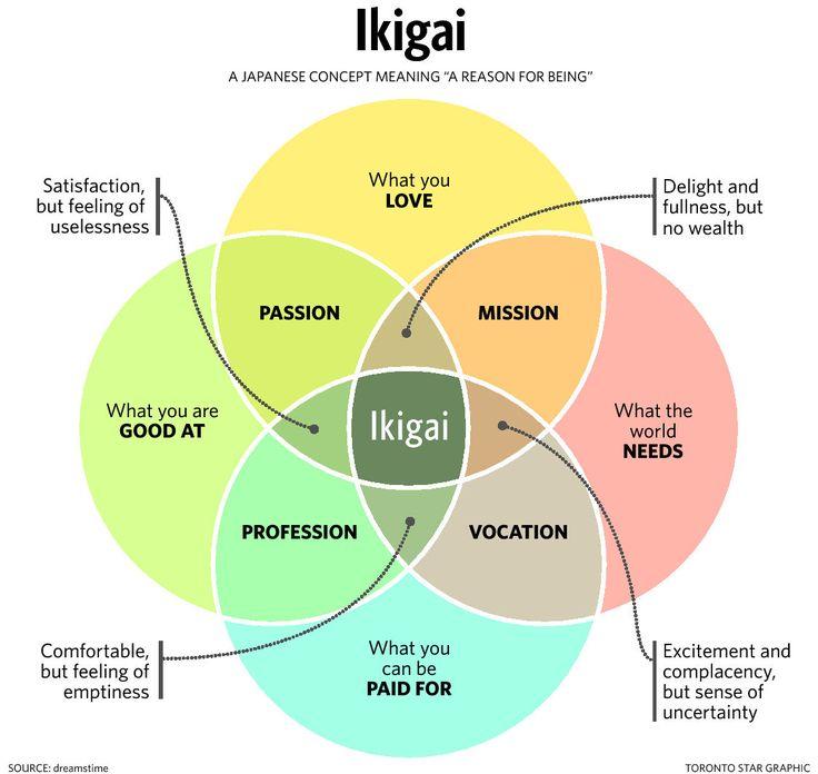 Wat is jouw Ikigai? Waarvoor kom jij graag elke dag uit je bed? Wat is jouw doelstelling?