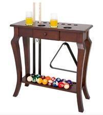 Pool Table Accessories Floor Cue Rack Wood Billiards Ball Holder Furniture Home