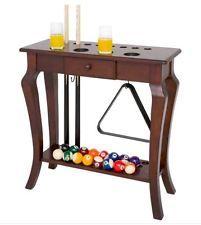 Pool Table Accessories Floor Cue Rack Wood Billiards Ball Holder Furniture Home