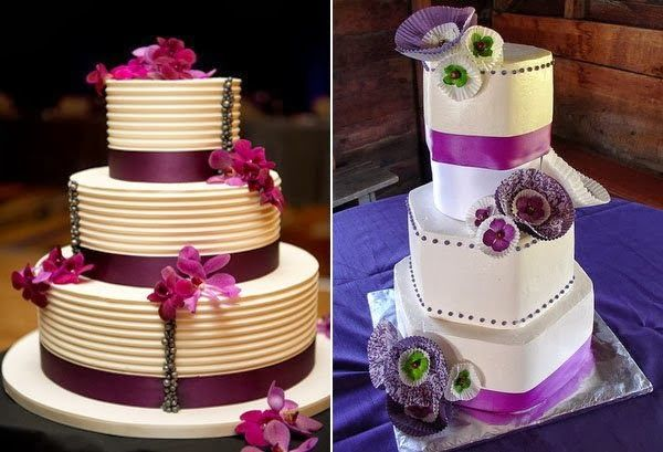 Purple Wedding Cakes Photos 2014
