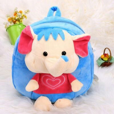 Mainan Untuk Bayi Toddler Anak Cute Cartoon Backpack Animal Shaped Pre School Bag Blue | pinknee.com