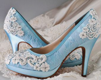 Wedding Shoes Custom Colors 250 Choices PBT-0382 by Pink2Blue
