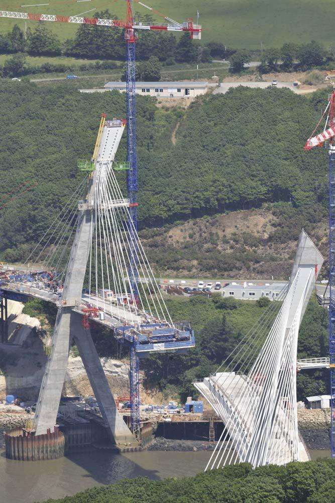 2007 chantier du nouveau pont de Térénez (Finistère)
