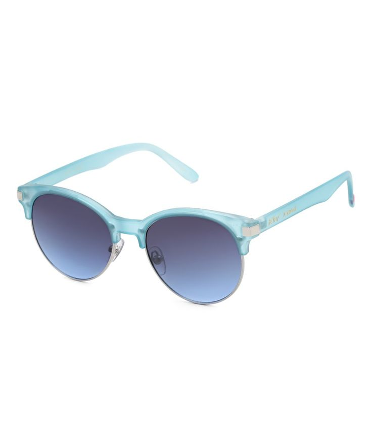 Take a look at this Blue Round Soho Browline Sunglasses today!