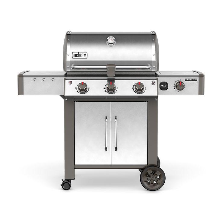 Weber Genesis II LX E-340 Stainless Steel 3-Burner Natural Gas Grill with 1 Side Burner
