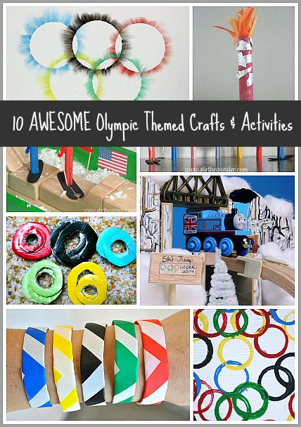 10 Awesome Olympic Themed Activities & Crafts for Kids