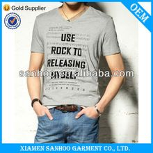 V Neck Short Sleeve Summer Apparel For Man Tee Shirts   best seller follow this link http://shopingayo.space