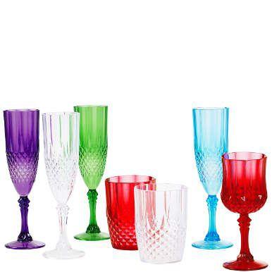 COLOUR CLASH bunte #Gläser aus #Kunststoff #Weinglas #Becher #Sektglas #to go #Picknick #Butlers