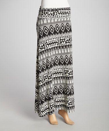 Look what I found on #zulily! Black Tribal Maxi Skirt by Chris & Carol #zulilyfinds