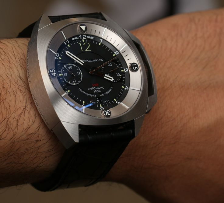 """SuisseMecanica SM8 Chronograph Watch Review - by Ariel Adams - Check out the review at: aBlogtoWatch.com """"Modern in design with all the hallmarks of a traditional mechanical sports watch, the SuisseMecanica SM8 Chronograph collection is a rare breed of thoroughly Swiss timepieces - which, of course..."""""""