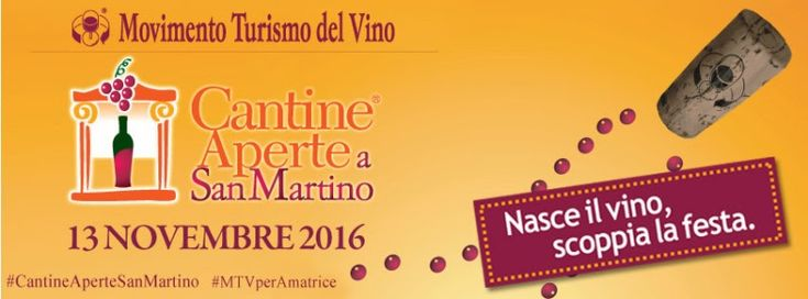 Il 12 e 13 novembre torna #CantineAperte a #SanMartino, #appuntamento autunnale del #Movimento #Turismo del #Vino Italia. Sarà l'occasione per fare #festa con i vignaioli e brindare all'inizio del #nuovo #anno agricolo. #assaggi #degustazioni #eventi