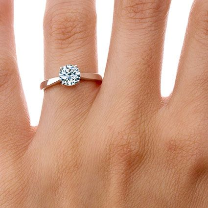 14K Rose Gold Petite Tapered Trellis Ring imaginate this on your finger !